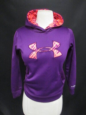 "Under Armour Youth ""XS"" Loose Fit Purple Hooded Sweater with Pockets"