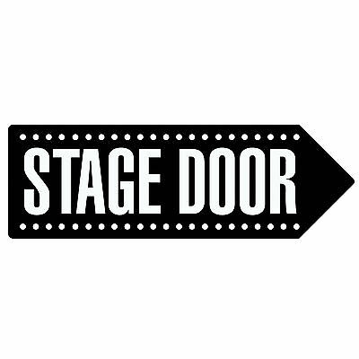 STAGE DOOR - BLACK | Metal Wall Sign Arrow Plaque | Theatre Dance Drama School