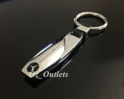 Mercedes Benz Badge Metal Chrome Stainless Steel Key Chain Keyring Classic #02
