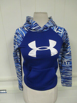 "Under Armour Youth ""Small"" Blue/Multicolor Hooded Sweater with Pockets"