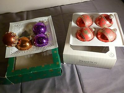 Vintage German Christmas Tree Glass Baubles - Balls Decoration