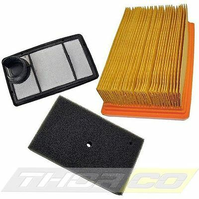 Air Filter Set Of 3 Service Filters Fits STIHL TS400 Pre, Main, Foam