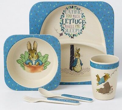Beatrix Potter Peter Rabbit Mug Plate Bowl And Cutlery Nursery Set A27754 New