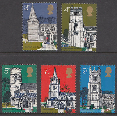 Gb Qeii Mnh Stamp Set 1972 Village Churches Sg 904-908 10% Off Any 5+