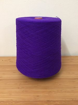 PURPLE 1400g 1 ply 2/30nm High Bulk 100% Acrylic Yarn Large Cone