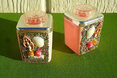 Vintage Florida Souvenirs--Shell SALT N PEPPER SHAKERS IN ORIGINAL BOX