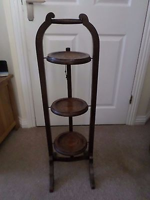 Vintage 3-tier Collapsible Wooden Cake Stand