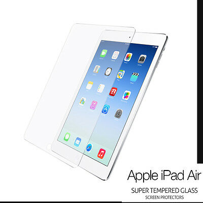 Genuine Premium Tempered LCD Glass Film Screen Protector For Apple iPad 5/Air