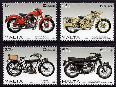 Malta 2007 Motorcycles Complete Set SG 1553 - 1556 Unmounted Mint