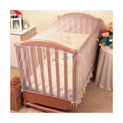 Clippasafe Cot Insect Net - Fits Cot Bed - 150 x 75 x 75cm - White - NEW