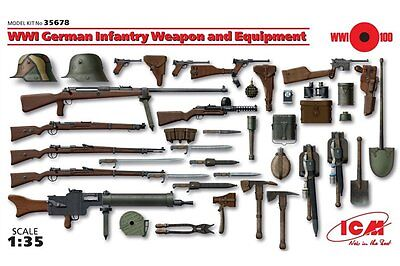 ICM 35678 1/35 WWI German Infantry Weapon and Equipment