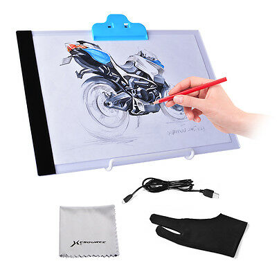 A4 LED Tracing Board Slim Drawing Copy Light Box Art Craft + Stand Holder AH299
