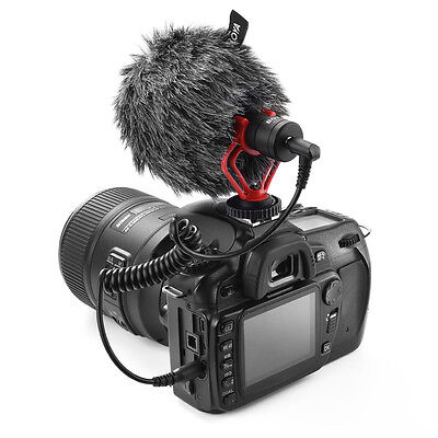 Cardioid Recording Stereo Audio Microphone for Camera DSLR DV Camcorder LF783