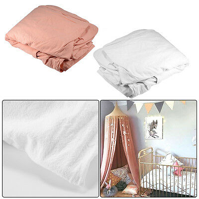 Girls Kids Mosquito Net Bed Canopy Fly Insect Protection Round Dome Pink/White