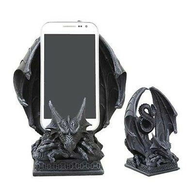 "Ferocious Ancient Dragon Mobile Cell Phone Holder Figurine Stonelike 7"" Height"