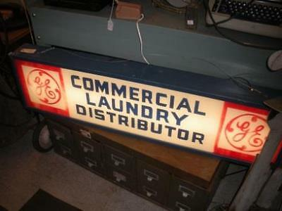 Vintage GE General Electric Laundry Advertising Light Box Lighted Sign