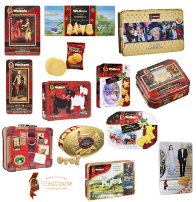Walkers Shortbread Biscuits Shapes and Fingers Selection Tins