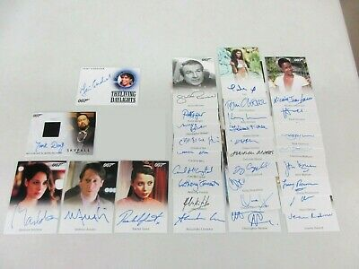 2017 James Bond Archives Final Edition 34 Card Common Limited Autograph Set Lot