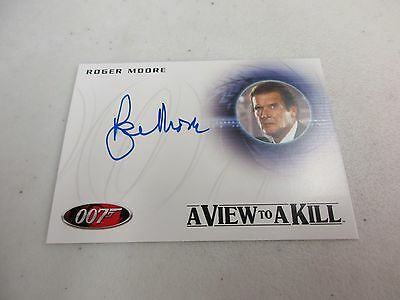 2017 James Bond Archives Final Edition Roger Moore as James Bond Autograph A225