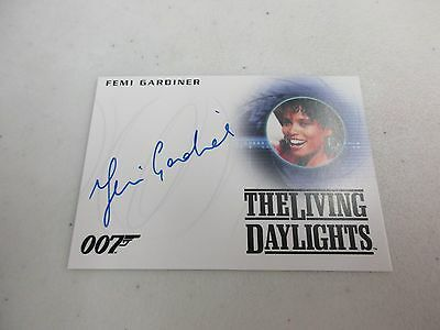 2017 James Bond Archives Final Edition Femi Gardiner / Harem Girl Autograph A267