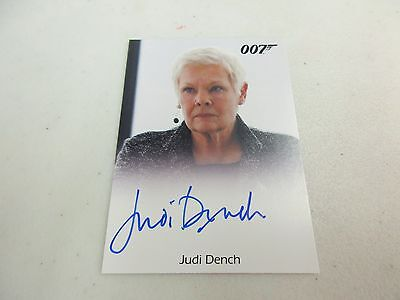 2017 James Bond Archives The Final Edition Judi Dench as M Full Bleed Autograph