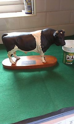 "Beswick ""connoisseur Range "" Friesian Bull"" In Perfect Condition"