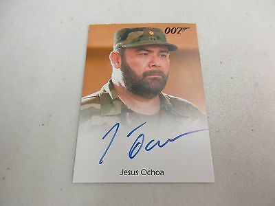 2017 James Bond Archives Final Edition Jesus Ochoa as Lt. Orso Autograph
