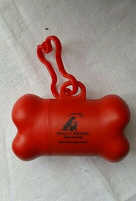 Official Holly Hedge Animal Sanctuary Charity Poo Bag Holder