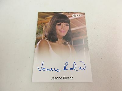 2017 James Bond Archives Final Edition Jeanne Roland as Masseuse Autograph