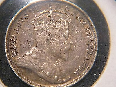 1908 CANADA 5 Cents Small 8 Variety in VF