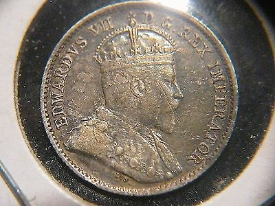 1910 CANADA 5 Cents Holly Leaves Variety in EF