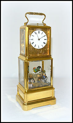 Bird Automaton Carriage Clock Hour Repeater