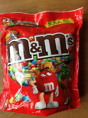 PEANUT BUTTER M&M's M ms m&ms XXL BAG 50oz/3lb/1.4kg BIGGER Bag American Candy