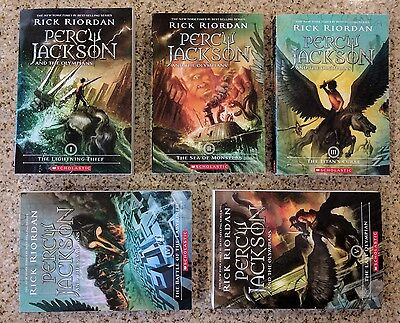 New Percy Jackson and the Olympians 5 Book Paperback Boxed Set by Rick Riordan