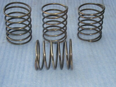 4 Solid Brass Large Springs Lamp Industrial Altered Art Vintage Pulley Steampunk