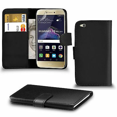 For Huawei P8 Lite 2017 PU Leather Wallet Case Cover With Screen Protector