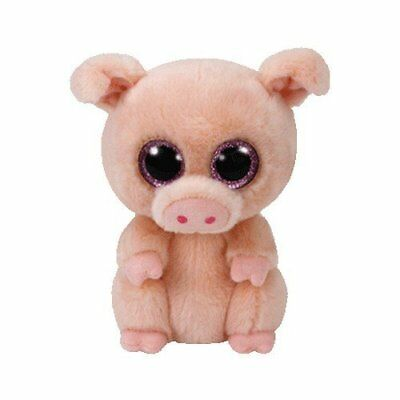 Piggley Pig - Ty Beanie Boos 6 inch - TY Boo Plush Teddy - Brand New Soft Toys