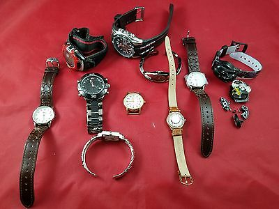 Lot Of 10 Watches For Parts Or Repair - Timex, Vivani, U.s. Polo Assn.