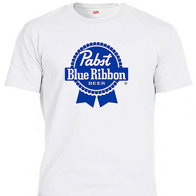 PABST BLUE RIBBON, PBR BEER, White & Ivory,T-Shirts Size S-5XL T-1172,L@@K!