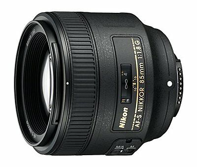 Brand New Nikon AF-S Nikkor 85mm f/1.8G Black Lens