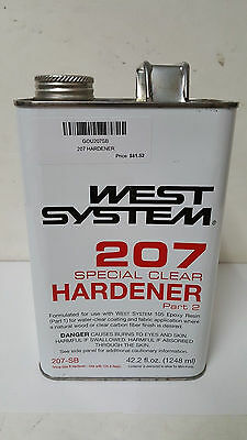 West System 207 SPECIAL CLEAR HARDENER COATING .33 GAL. 207-SB