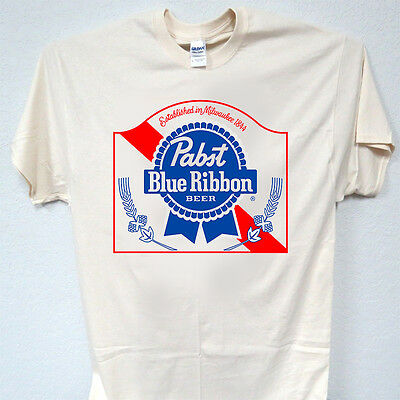 PABST BLUE RIBBON, PBR BEER, Cool, White & Ivory,T-Shirts Size S-5XL  T-1173
