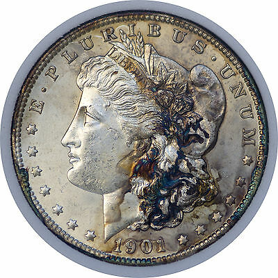 1901-o Morgan dollar DWM MS-63 United States Silver Dollar $1