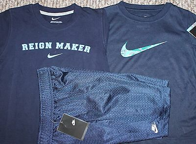 New! Boys Nike Summer 3 pc Lot/Outfit (2 Shirts, 1 Shorts; Blue) - Size 5-6