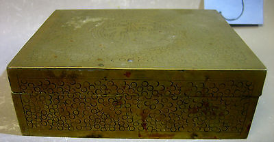 Vintage Chinese handmade copper trinket box