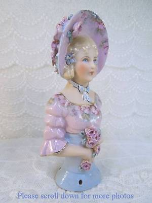 Porcelain Half Doll - Pincushion - Eva