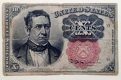 1874 Us 10 Cent Fractional Currency