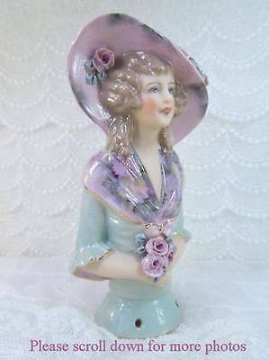 Porcelain Half Doll - Pincushion - Angelique