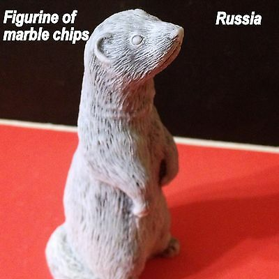 Ferret figurine marble chips Souvenirs from Russia sculpture  Ferret