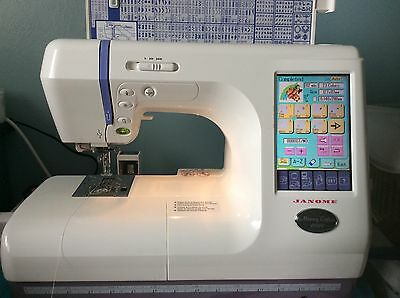 janome memory craft 10000 combination embroidery/sewing machine